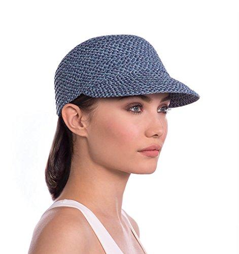 Eric Javits Luxury Fashion Designer Women's Headwear Hat - Mondo Cap (Denim, Small/Medium) by Eric Javits