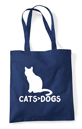 Navy Themed Cute Are Bag Animal Tote Shopper Funny Greater Than Cats Dogs 7Fwq1fP