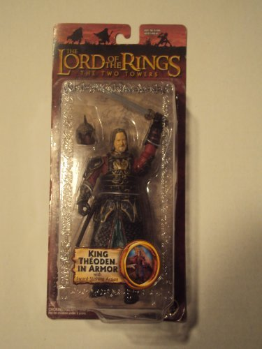 TOY BIZ 2004 LORD OF THE RINGS THE TWO TOWERS TRILOGY KING THEODEN IN ARMOR FIGURE