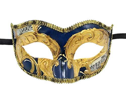 (Coolwife Masquerade Masks Venetian Vintage Party Ball Carnival Evening Prom Mardi Gras Mask (B Blue))