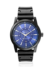 TimeSmith Limited Edition Blue Dial Black Rubber Watch for Men with Date TSM-101