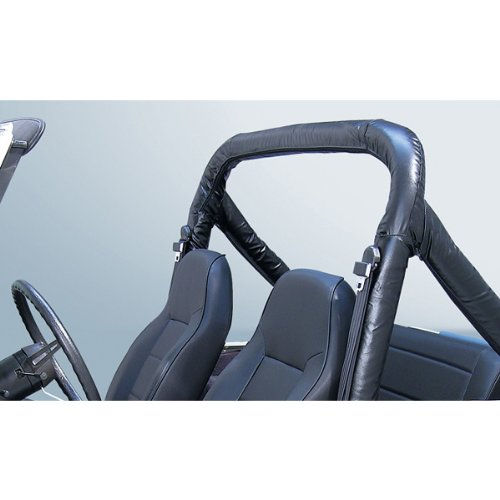 Rugged Ridge 13610.01 Black Roll Bar Cover Kit for Jeep CJ and 87-91 Wrangler YJ by Rugged Ridge (Image #2)