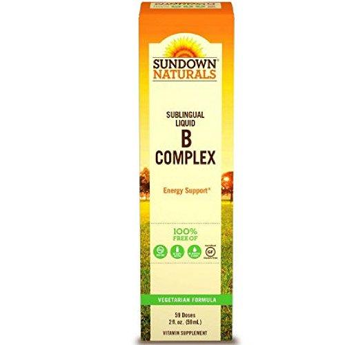 Sundown B-Complex Sublingual Liquid 2 oz ( Pack of 4) For Sale