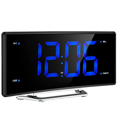 Mpow FM Projection Alarm Clock with Dual Alarms...