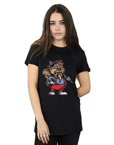 Mujer Camiseta Absolute Novio Chip Cult Drewbacca Fit Del Woodcutter Negro qwARFanExA