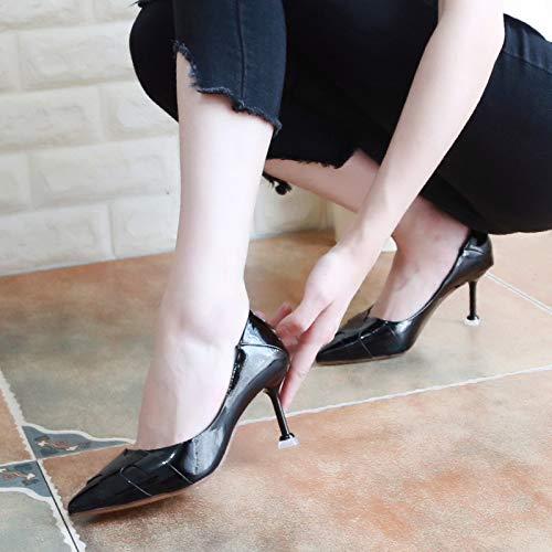Autunno Tacchi Semplice Da Sexy KPHY Superficiale Delle Scarpe Donna Stato Black donna Scarpe 36 Tallone da Alti Scarpe Con Scarpe 6Cm Lacca 8Z8OYq