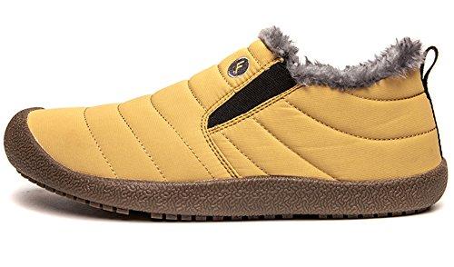 Santimon Gelb Wasserdicht on Damen Slip Schuhe Outdoor für Komfort Winter Warm Schneestiefel Gefütterte Stiefel Herren Boots qSw6Z