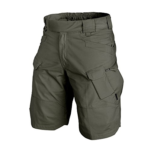 Helikon-Tex UTK Shorts Taiga Green Poly Cotton Ripstop Waist 40 Length 11, Urban Line Urban Tactical Shorts