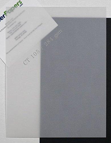 CT Clear Translucent (Vellum) 105lb DT Cover 8.5 x 11 Paper - 100 PK ()