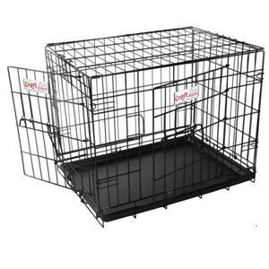 Black Croft 24ins Alpine Dog Crate Choice of Black Pink or Blue