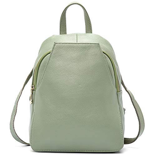 Academy Travel Women's Light Leather Backpack Women's 100 Green Backpack Holiday 7wwIX1qfx