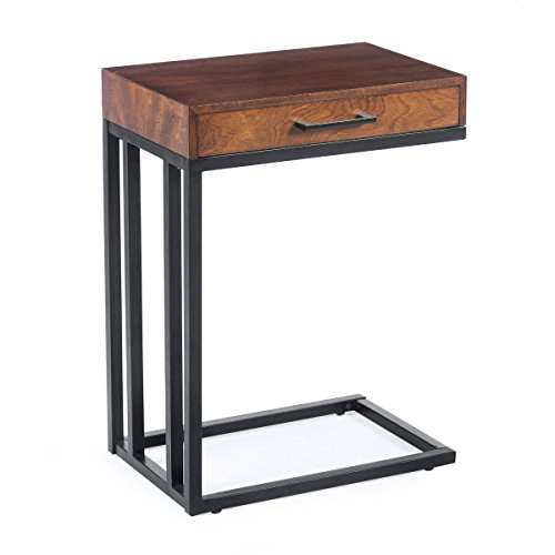Versatile Drake C-Table with Drawer in Espresso (Table Drawer C With)