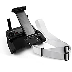 Powerextra DJI Spark Mavic Pro & Platinum Tablet Holder Aluminum-Alloy 4-12 Inch IPad Holder Bracket + Belt Neck Lanyard Strap for DJI Mavic Pro & Platinum, DJI Spark Remote Controller