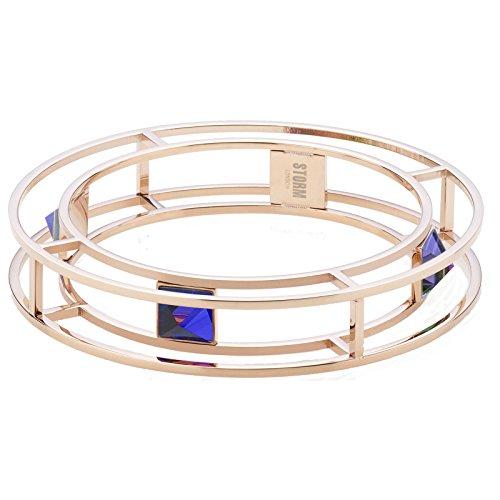 STORM gEMZA bracelet en acier inoxydable plaqué or rose avec strass en verre 9980723/b