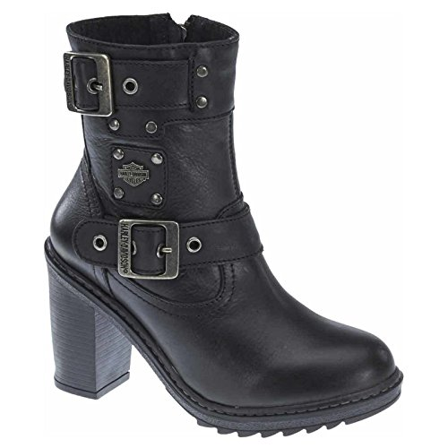 Harley Davidson Womens Ludwell Black Leather Boots 9 US