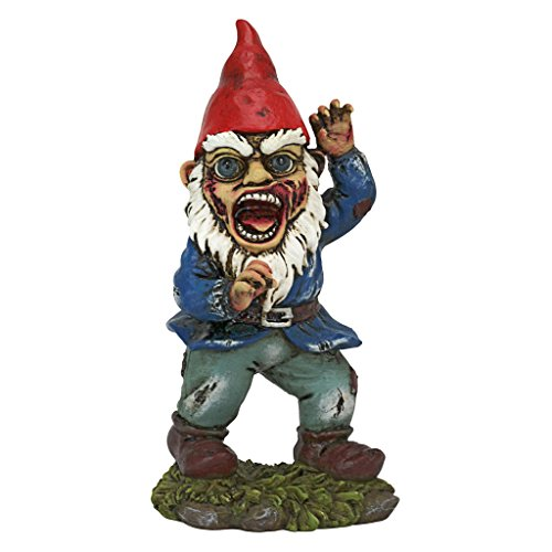 Design Toscano QL30757 Attack of the Dead Walking Zombie Apocalypse Garden Gnome Statue, One Size, Multicolor