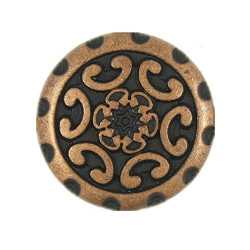 Bezelry 20 Pieces Wreath Antique Copper Color Metal Shank Buttons 15mm ()