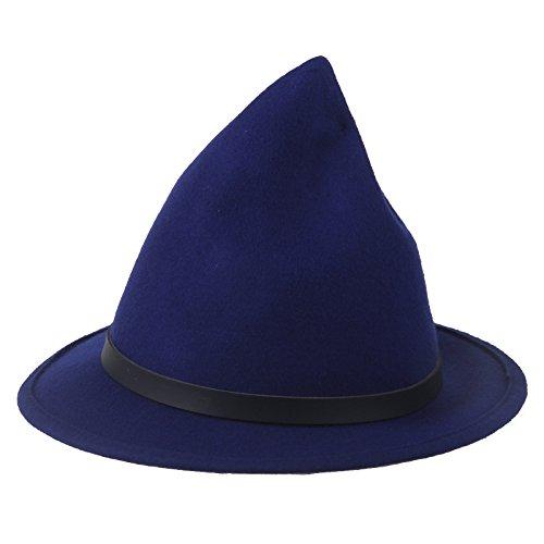 Beauxbatons Halloween Costume (Prefe Women's 100% Wool Belt Fedora Witch Hat Halloween Costume Accessory)