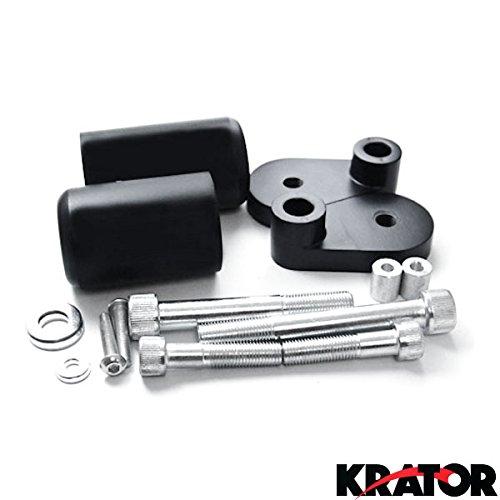 Krator 2006-2007 Honda CBR 1000RR No Cut Black Frame Sliders Crash Protectors Motorcycle