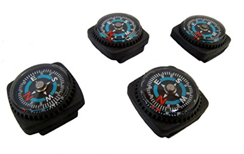 Type-III 4pc Liquid Filled Slip-on Compass Set for Watchband or Paracord Bracelets (2nd Gen) -