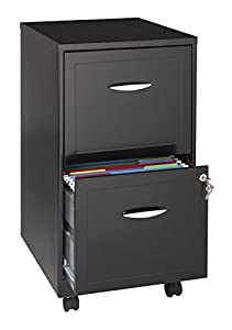 Hirsh 2-Drawer SOHO Mobile File Cabinet, 18-Inch, Black