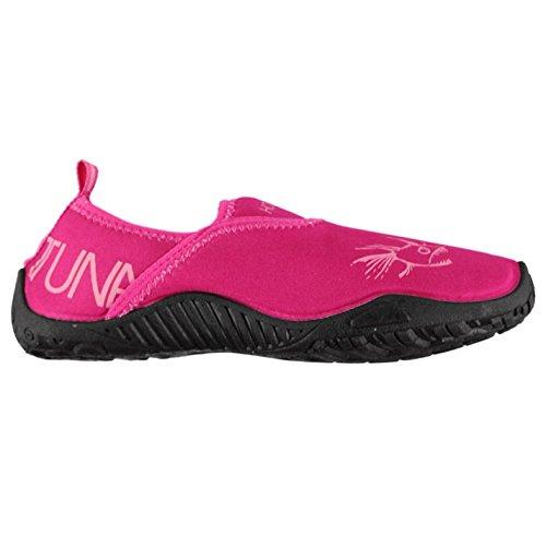 Hot Tuna Mujer Splasher Ponerse Perfil Bajo Suela Goma Tacon Tirar Lazo Zapatos Rosa/Pow Rosa