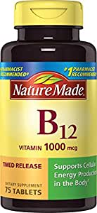 Nature Made Vitamin B12 1000 mcg. Timed Release Tablets 75 Ct