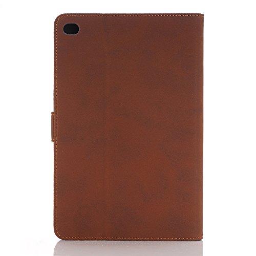 Mini iPad 5 Case 2019 Model, YiMiky Slim Folio Shell Smart Stand Case for 2019 Model iPad Mini 5 Ultra Slim Book Cover Protective Case for 7.9 Inch iPad Mini 5/ iPad Mini 4 2015 - Dark Brown by YiMiky (Image #5)