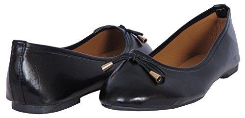 Epische Step Klassieke Balletschoenen Voor Dames Met Ronde Neus Zwart