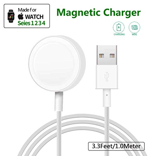 LONOSUN Watch Charger Pad and iWatch Magnetic USB Charging Cable for Series 1/2/3/4,Magnetic Charging Cable for Apple Watch