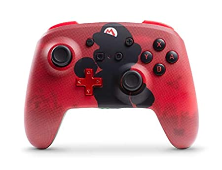 PowerA Enhanced Wireless Controller for Nintendo Switch - Mario Silhouette - Nintendo Switch