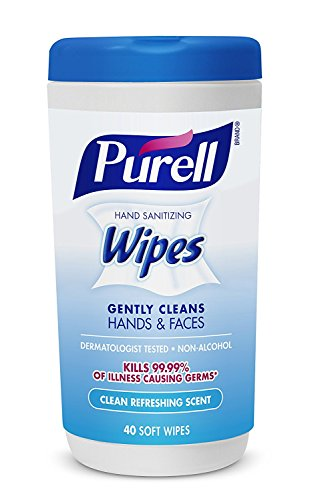 Hand and Face Sanitizing Wipes -3 Refreshing Scent And 3 Fragrance Free Canisters of 40 Count by Purell (Image #4)