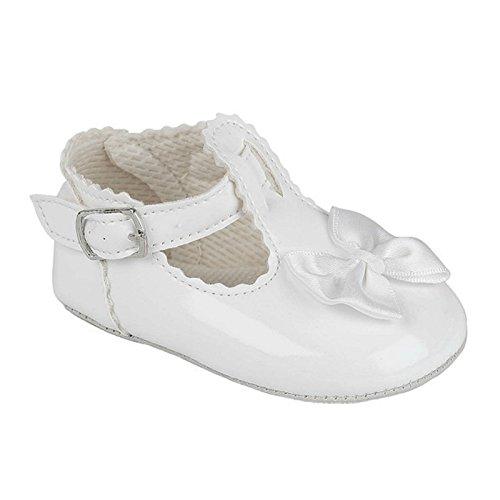 Zapatos para bautizo de niña blanco
