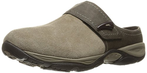 Easy Spirit Women's Eliana Mule,DARK TAUPE/BROWN SUEDE,8 W US