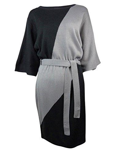 Buy belted black sweater dress - 8
