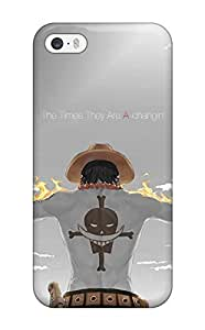 High Grade ZippyDoritEduard Flexible Tpu Case For Iphone 5/5s - Fire Fist Ace