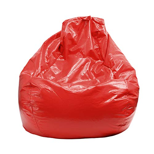 Gold Medal Bean Bags 30011209207TD Gold Medal Glossy Vinyl Bean Bag, Medium, Lipstick Red
