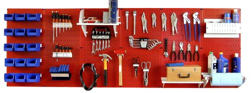 Wall Control 30-WRK-800RW Master Workbench Metal Pegboard...