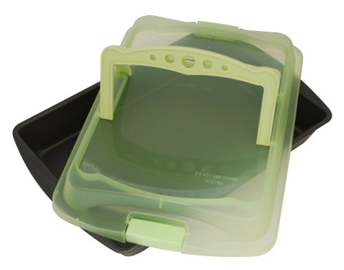 (ProBake Teflon Xtra Non-Stick Bake and Roast Pan with Matching Spring Green Cover and Handles)