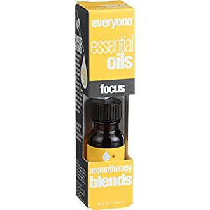 EO Products Everyone Aromatherapy Blends - Essential Oil - Focus - .5 oz (Pack of 2)