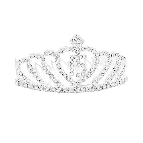 Rosemarie Collections Women's Crystal Rhinestone 15th Birthday Quinceanera Mini Princess Tiara