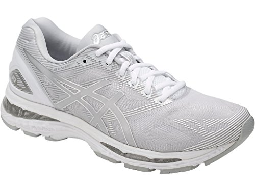 ASICS Mens Gel-Nimbus 19 Running Shoe, Glacier Grey/Silver/White, 9.5 M US