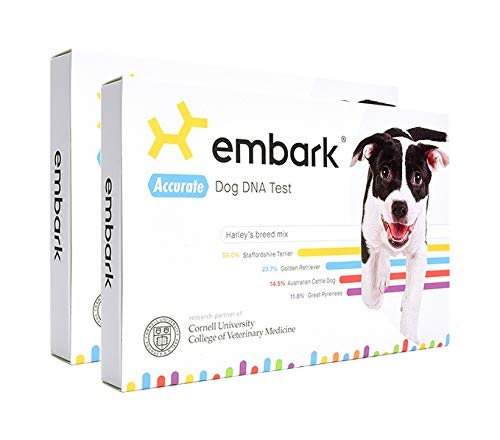 Embark Dog DNA Test Kit | Breed & Genetic Ancestry Discovery | Trait & Health Detection | at-Home Cheek Swab | Pack of 2