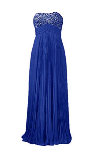 Vestido de fiesta de la bola Toscana novia moda de los vestidos de noche de gasa largo vestido de dama partido Imperio Azul Real