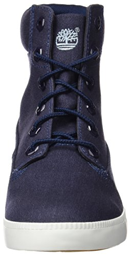 Timberland Damen Newport Bay 6 in Canvasbtblack Iris Kurzschaft Stiefel Blau (Black Iris)