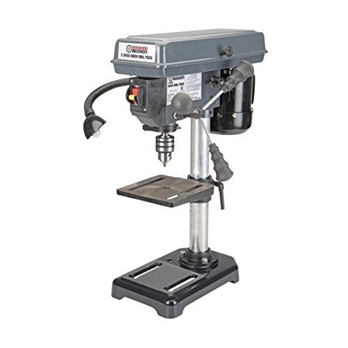 8'' Bench Mount Drill Press 5 Speed - Table Rotates 360° & Tilts 45° Left & Right by Central Machinery