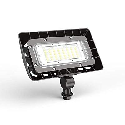 LED Outdoor Flood Light,Dusk-to-Dawn Photocell,NBROX,180° Adjustable Knuckle Mount,1770 Lumen, 5000K, Waterproof IP65, 120-277v,15W Security LED Flood Light (50W Equivalent)
