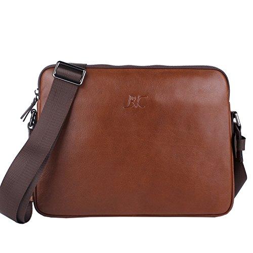 Banuce Small Vintage Leather Menssenger Bag for Men Shoulder Crossbody Bag Brown by Banuce (Image #7)