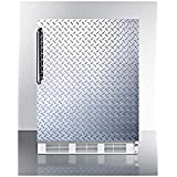 Summit FF7BIDPL Refrigerator, Silver With Diamond Plate