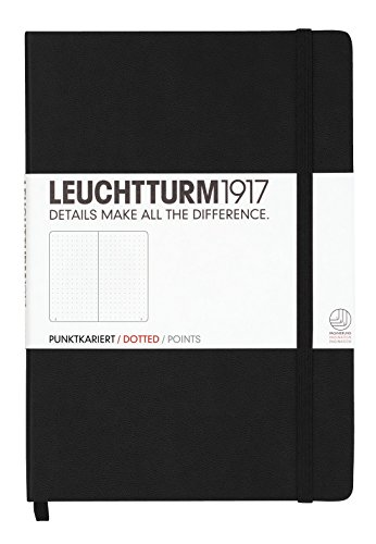 Leuchtturm1917 Medium Size Hardcover A5 Notebook - Dotted Pages - Black
